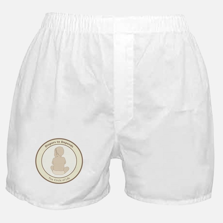 """""""Diapers to Depends"""" Boxer Shorts"""