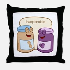 """""""Inseparable"""" Throw Pillow"""