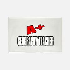 """A+ Geography Teacher"" Rectangle Magnet"