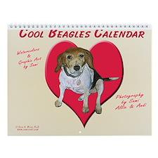 Cool Beagles Wall Calendar by Sami