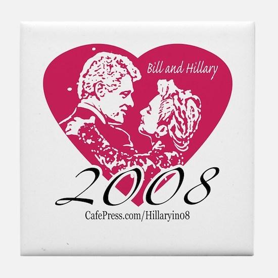 I Love the Clintons Tile Coaster