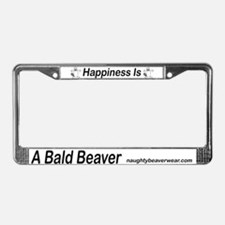 Happiness Is A Bald Beaver License Plate Frame