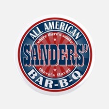 """Sanders' All American BBQ 3.5"""" Button"""