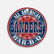 Sanders' All American BBQ Ornament (Round)