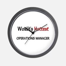 World's Hottest Operations Manager Wall Clock