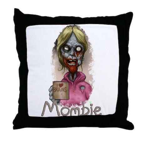 Mombie Throw Pillow
