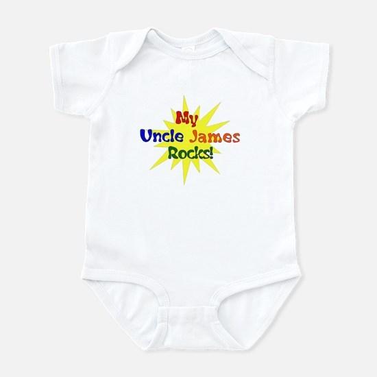 MY UNCLE JAMES ROCKS Infant Bodysuit