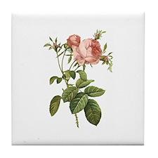 Vintage Roses Tile Coaster