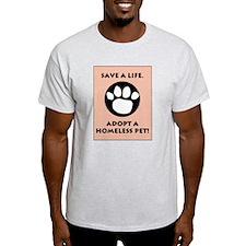 Adopt a Pet Ash Grey T-Shirt