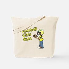 Football Girls Rule Tote Bag