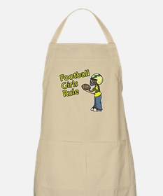 Football Girls Rule BBQ Apron