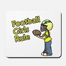 Football Girls Rule Mousepad