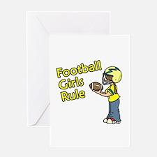 Football Girls Rule Greeting Card