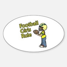 Football Girls Rule Oval Decal