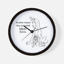 Great Dane w/ Baby Reason Wall Clock