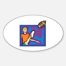 Female Punter Oval Decal
