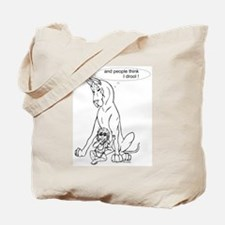 Great Dane w/ Baby Drool Tote Bag