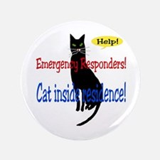 "Single Cat Alert 3.5"" Button"