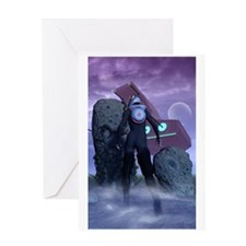 Science Fiction Art Greeting Card