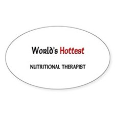 World's Hottest Nutritional Therapist Sticker (Ova
