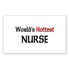 World's Hottest Nurse Rectangle Decal