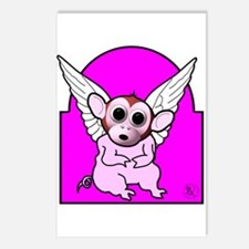 Flying Pig Monkey Postcards (Package of 8)