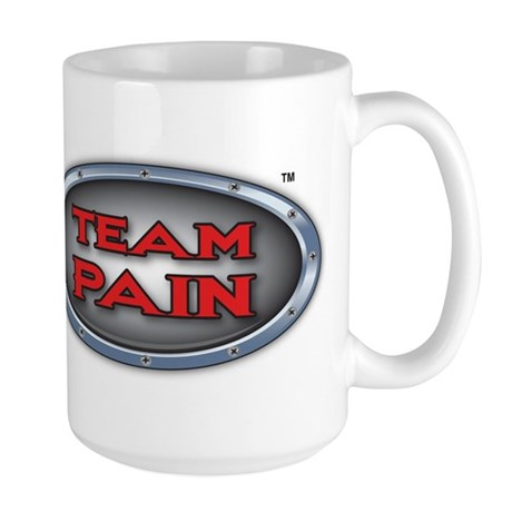 Team Pain red logo Large Mug