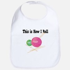 How I Roll (Yarn) Bib