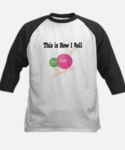 How I Roll (Yarn) Kids Baseball Jersey