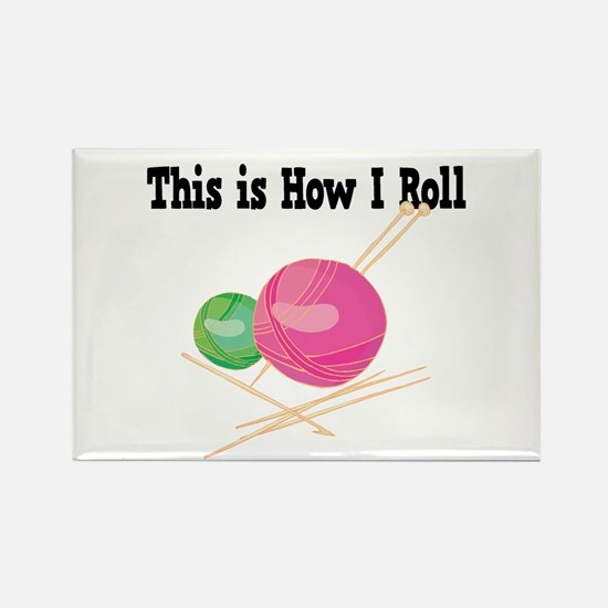 How I Roll (Yarn) Rectangle Magnet