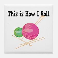 How I Roll (Yarn) Tile Coaster