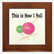How I Roll (Yarn) Framed Tile