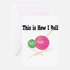 How I Roll (Yarn) Greeting Card