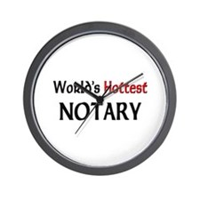 World's Hottest Notary Wall Clock