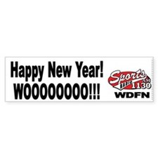 "WDFN ""Happy New Year"" White Bumper Sticker"