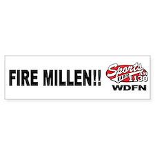 "WDFN ""Fire Millen"" White Bumper Sticker"