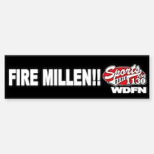 "WDFN ""Fire Millen"" Black Bumper Bumper Sticker"