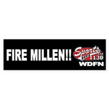 "WDFN ""Fire Millen"" Black Bumper Sticker"