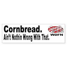 "WDFN ""Cornbread"" White Bumper Sticker"
