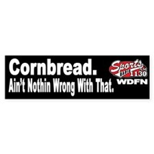 "WDFN ""Cornbread"" Black Bumper Sticker"