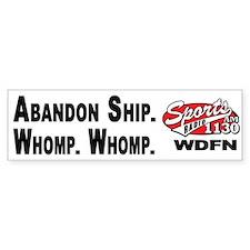 WDFN Abandon Ship... White Bumper Sticker