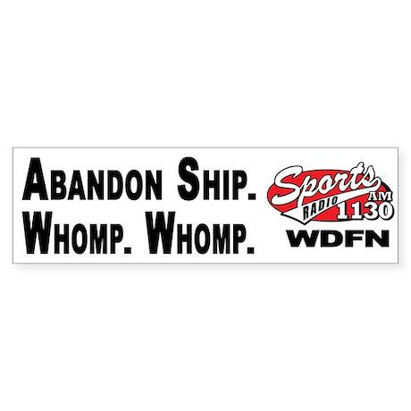 WDFN Abandon Ship... White Sticker