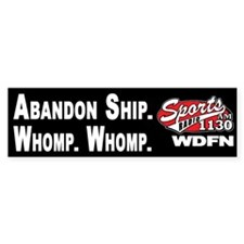 WDFN Abandon Ship... Black Bumper Sticker