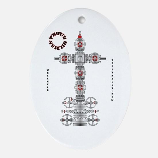 Proud Oilman Oval Ornament