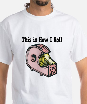 How I Roll (Clear Tape) White T-Shirt