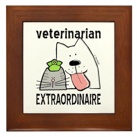 Veterinarian Extraordinaire Framed Tile