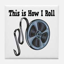 How I Roll (Movie Film) Tile Coaster