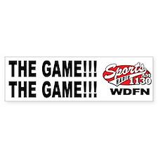 "WDFN ""The Game"" White Bumper Sticker"