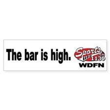 "WDFN ""Bar is High"" White Bumper Sticker"