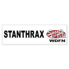 """WDFN """"STANTHRAX"""" White Bumper Sticker"""